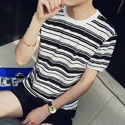 maxhomme - 短袖條紋T恤