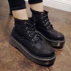 Mancienne - Chunky-Heel Platform Ankle Boots