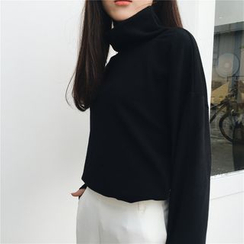 COOKIS - Turtleneck Long-Sleeve T-shirt