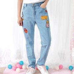 Fairyland - Applique Embroidered Jeans