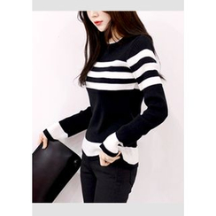 DEEPNY - Striped Slim-Fit Knit Top