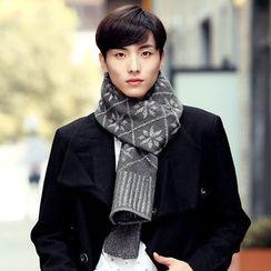 Amandier - 雪花图案针织围巾