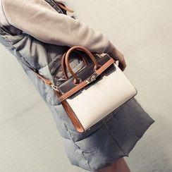 Bag Affair - Buckled Faux Leather Shoulder Bag