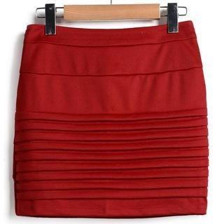 9mg - Pleated Miniskirt