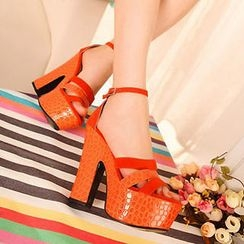 Mancienne - Platform High-Heel Sandals