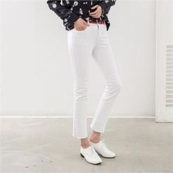 PEPER - Flat-Front Boot-Cut Pants