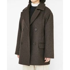 Someday, if - Double-Breasted Wool Blend Coat