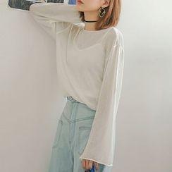 Heynew - Plain Sheer Sweater