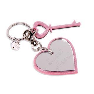 Sweet & Co. - Sweet Heart Pink Glitter Key Chain