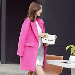 YUMU - Long Woolen Coat
