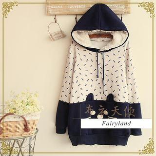 Fairyland - Cat Print Hooded Pullover