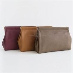 QNIGIRLS - Faux-Leather Tasseled Clutch