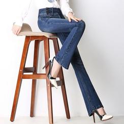 Denimot - High Waist Boot Cut Jeans