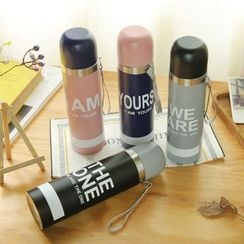YUNO - Lettering Thermal Water Bottle