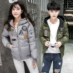 Ekim - Hooded Applique Padded Jacket