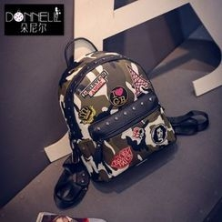 Donini Bags - Camouflage Badge Backpack