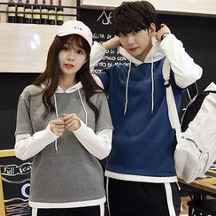 belle epoque - Couple Matching Mock Two-Piece Hoodie