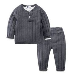 DEARIE - Kids Set: Plain Pullover + Pants