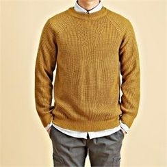 THE COVER - Crew-Neck Raglan-Sleeve Knit Top