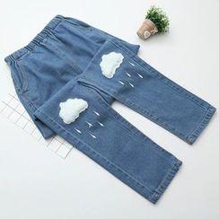 Citree - Cloud Applique Straight-Cut Jeans