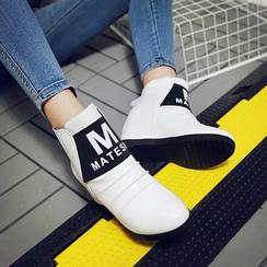 锦洋鞋业 - 字母船跟短靴