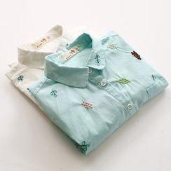 布丁坊 - 刺绣衬衫