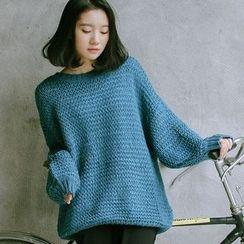 SUYISODA - Lantern Sleeve Knit Top
