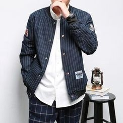 Mrlin - Striped Baseball Jacket
