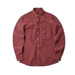 THE COVER - Pocket-Front Crinkled Cotton Shirt