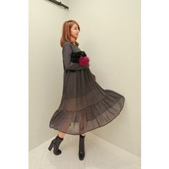 PPGIRL - Pattern Chiffon Long Dress