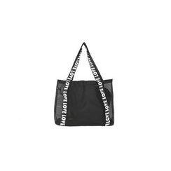 DABAGIRL - Inset Pouch Lettering Mesh Shopper Bag