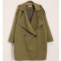 Momewear - Double-Button Trench Coat