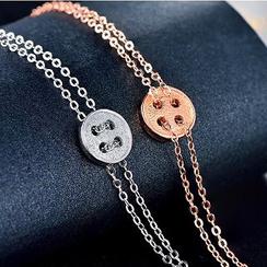 Zundiao - 纯银纽扣手链