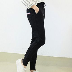 Lina - Striped Trim Sweatpants