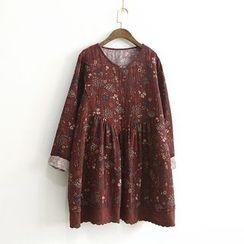 兰芝 - 碎花长袖裙衣