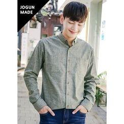 JOGUNSHOP - Long-Sleeve Dual-Pocket Shirt