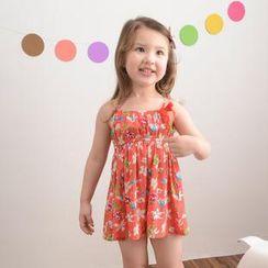 Lemony dudu - Kids Floral Print Slipdress