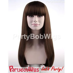 Party Wigs - PartyBobWigs - Party Long Bob Wig - Brown