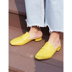 FROMBEGINNING - Cutout-Back Loafers