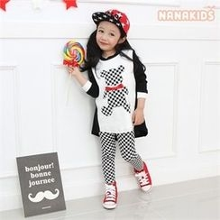 nanakids - Girls Check Leggings