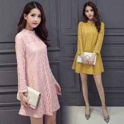Sienne - Mock Neck Long Sleeve Dress