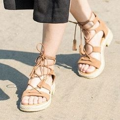 MIAOLV - Tasseled Gladiator Sandals