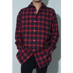 Ohkkage - Long-Sleeve Check Shirt