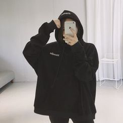 Eva Fashion - Letter Embroidered Hoodie