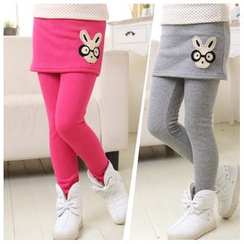 Pegasus - Kids Rabbit Applique Inset Leggings