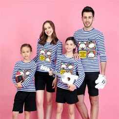 Panna Cotta - Monkey Print Long Sleeve Family Matching T-Shirt