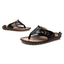 Van Camel - Genuine Leather Flip Flops