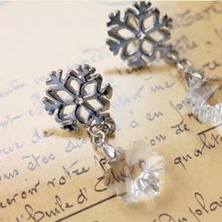 Fit-to-Kill - Silver snowflakes eaRings