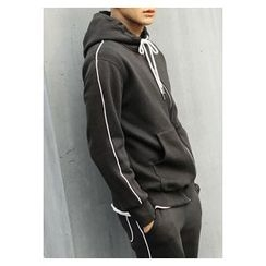 HOTBOOM - Drawstring Hooded Pullover