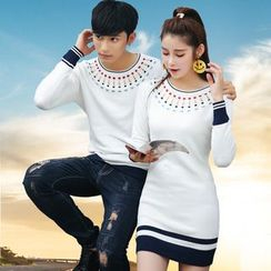 Igsoo - Couple Matching Knit Top / Knit Dress